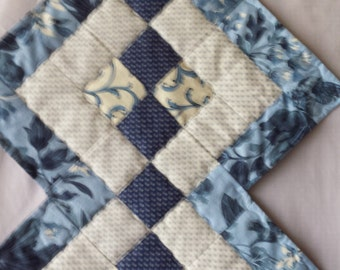 Table Runner Blue Quilted