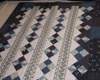Blue Quilted Wall Hanging