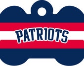 Patriots Pet Id Tag, NFL Pet Id Tag, Patriots Pet Tag, NFL Pet Tag, NFL Inspired Pet Tag, Custom Pet Tag