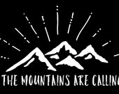 The Mountains Are Calling, Mountains License Plate, Front License Plate, License Plate Frame, Custom License Plate, Inspiring License Plate