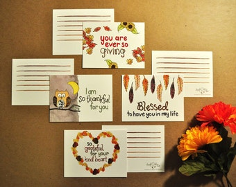 Oh So Thankful  Mini Flat Card Set