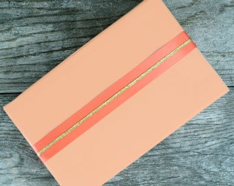 SALE - Peach Wrapping Paper, 2 Feet x 10 Feet