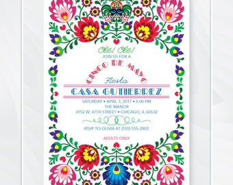 mexican invitation  etsy, invitation samples