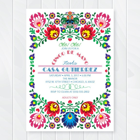 Mexican Party Invitations can inspire you to create best invitation template