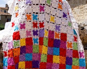 Butterfly Crochet Baby Blanket in Italian pure baby wool