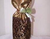 Silk Wine Gift Bag, Drawstring Ribbon Wine Presentation Sack