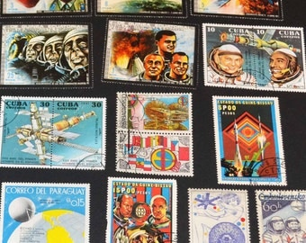 25 Space Stamps from around the world