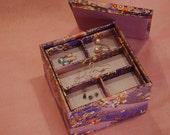 Multi-level Stacked Square Jewelry Box