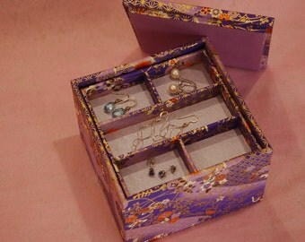 Multi-level Stacked Square Jewelry Box