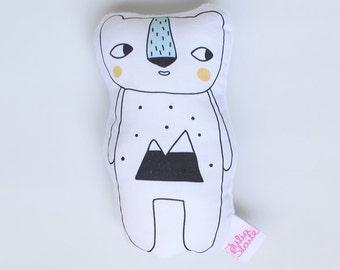 Polar Bear Soft Rattle Toy