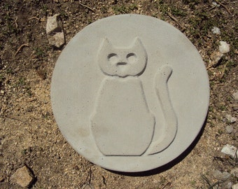 Cat Stepping Stone, Garden Plaque