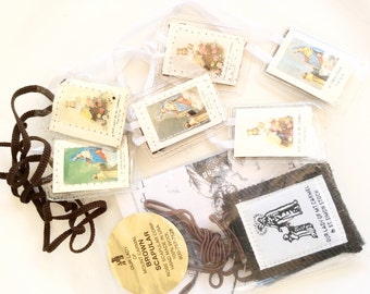 vintage scapular lot of 4 sets all in new old stock condition