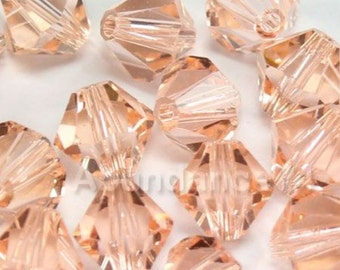 Swarovski Bicone Crystal Beads Xilion 5328 LIGHT PEACH - Available in 3mm, 4mm, 5mm, 6mm and 8mm