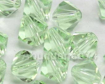 Swarovski Crystal Beads BICONE 5328 5301 crystal beads CHRYSOLITE - Available in 3mm, 4mm, 5mm, 6mm and 8mm