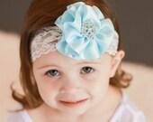 Frozen Headband, Frozen Satin Flower Headband, Girls Frozen Headband, Frozen