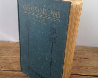 Journal, Caesar's Gallic War vintage repurposed Journal