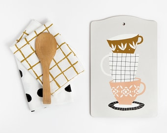 Cutting board - Cups - designed by Depeapa