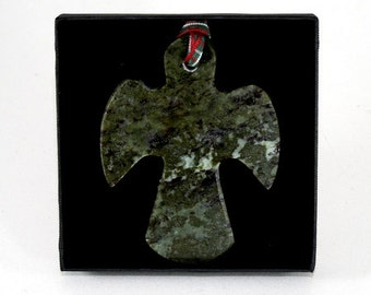 Handcrafted Connemara Marble Christmas Ornament (Angel)