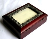 Vintage Wooden Box Trinket Box or Box for Photos Jewelry Box Beautifully Made and Decorated Excellent Condition