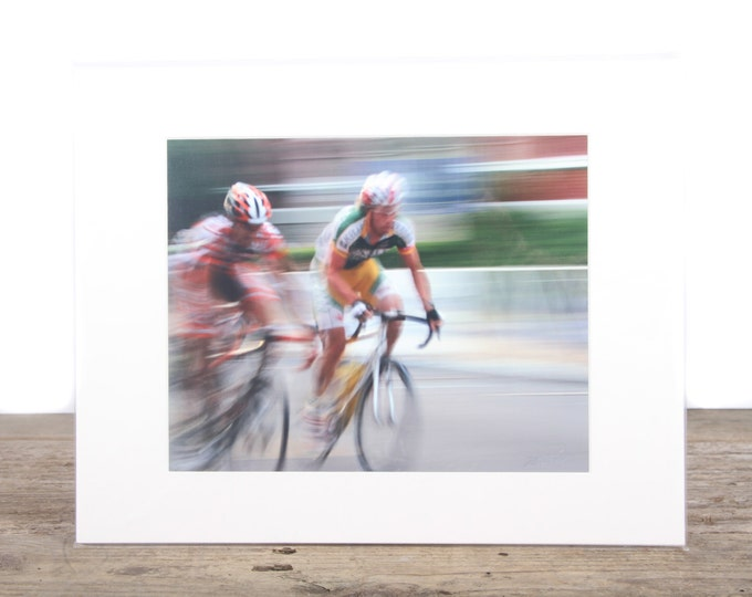 Original Fine Art Photography / Bike Racing Photography / Bike Gift / Signed Photography / Photography Prints / Color Photography / Matted