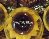 Bling My Bridesmaids with Sunflowers (Large 20 oz. glasses) set of 8