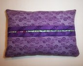 Purple Scrolls Purse Tissue Cozy/Holder