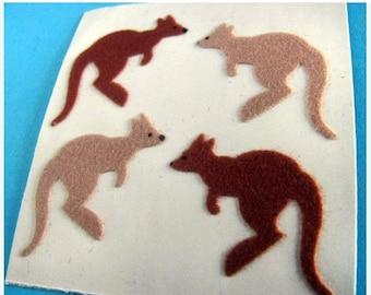 ON SALE Rare Vintage Sandylion Fuzzy Kangaroos Stickers 80's Aussie Roo Australia Kangaroo Wallaby Joey