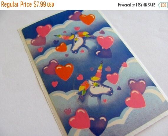 ON SALE Rare Vintage Lisa Frank Unicorn Hearts Clouds Plug