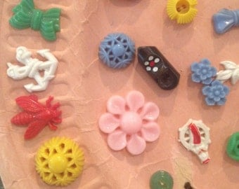 Plastic Buttons Set of 50+ or Separately by request 3.50 to 9.50