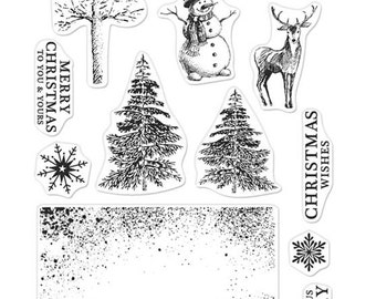 Hero Arts Clear Stamps CM101 Vintage Christmas Wishes