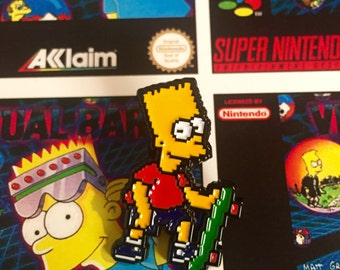 pixelated Bart pin