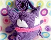 Plush Haunter Pokémon Purse (Amigurumi)