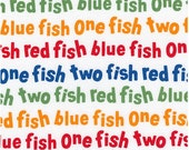 Dr Seuss Multi One Fish Two Fish Red Fish Blue Fish from Robert Kaufman
