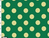 Metallic Gold Dots on Spearmint Green from Michael Miller's Glitz Collection