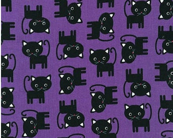 Black Cats on Purple From Robert Kaufman's Urban Zoologie by Ann Kelle