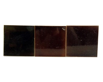 Set of brown square ceramic tile