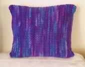 Multi-colored Crochet Decor Pillow
