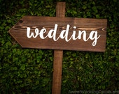 Directional Boho Wedding Sign, custom wedding sign, beach wedding, rustic wedding sign, personalized, wooden wedding sign