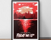 Friday The 13th - 12 x 18 inches - Horror Movie - Camp Crystal Lake - Jason Vorhees
