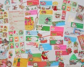 Lot Vintage Christmas Tags & Gummed Seals