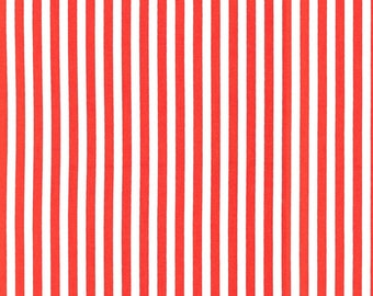 Michael Miller fabric by the yard Clown Stripe in Fire 1 Yard