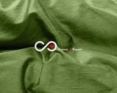 Silk Dupioni Fabric - Dark olive green D187 - Section Green - 1 yard 100% Silk Dupion