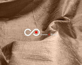 Silk Dupioni Fabric - Coffee D085 - Section Brown - 1 yard 100% Silk Dupion