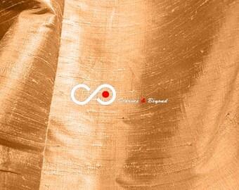 Silk Dupioni Fabric - Copper D088 - Section Brown - 1 yard 100% Silk Dupion