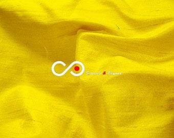 Silk Dupioni Fabric - Aureolin D451 - Section Yellow and gold - 1 yard 100% Silk Dupion