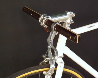 blackwood and maple wood straight bicycle handlebar