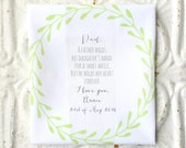 FATHER of the bride . wedding handkerchief . gift . a father holds his daughter's hand . cotton wedding hanky . your frame choice