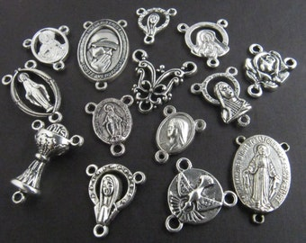 Discount Lot of Rosary Centers - 12 Pieces