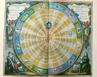 Vintage 1970s antique Star Map 46 COPERNICUS' UNIVERSE zodiacal Astronomy constellations - star chart star zodiac constellation map