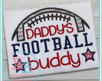 Boys Football shirt - Daddy's football buddy - boys football shirt -boys fall shirt - boys Thanksgiving shirt